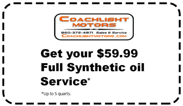 Coupon for $59.99 Full synthetic oil service